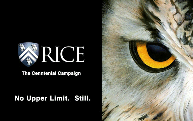 Rice University Campaign